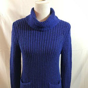 Chico's blue/purple turtleneck with 2 front pocket